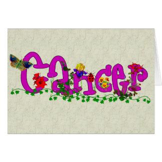 Flores del cáncer tarjeta pequeña