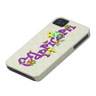 Flores del Capricornio Case-Mate iPhone 4 Protectores