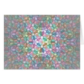 Flores del ciruelo tarjeta de felicitación