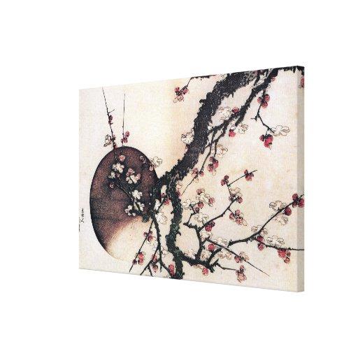 Flores del ciruelo y la luna, lona estirada galerias