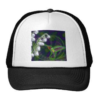 Flores del colibrí y del lirio de los valles gorros