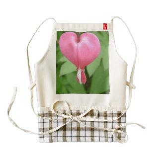 Flores del corazón sangrante delantal zazzle HEART