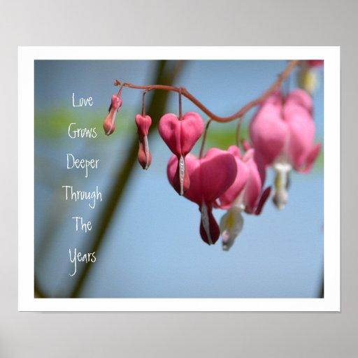 Flores del corazón sangrante poster