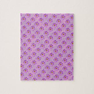 Flores del cosmos con el fondo rosado puzzle con fotos
