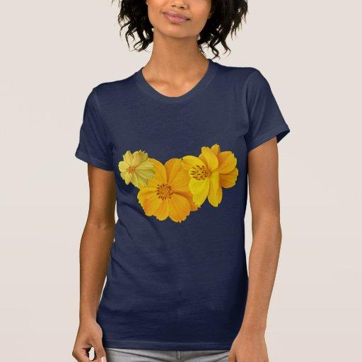 Flores del cosmos (sulphureus del cosmos) camiseta