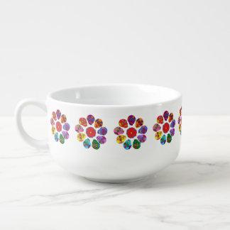 Flores del cráneo del azúcar tazón para sopa