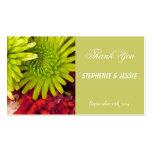 flores del crisantemo tarjetas de visita