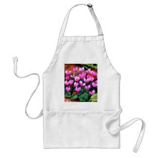 Flores del Cyclamen Delantal