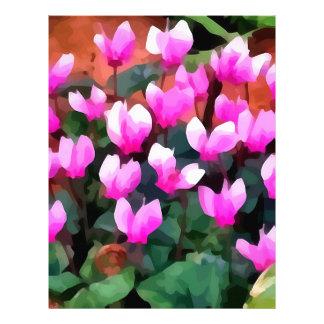 Flores del Cyclamen Membretes Personalizados