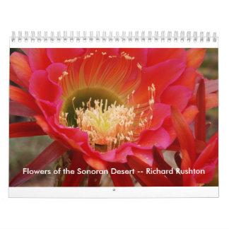 Flores del desierto de Sonoran -- Richard Rushton Calendario