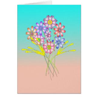 Flores del desierto tarjeta de felicitación