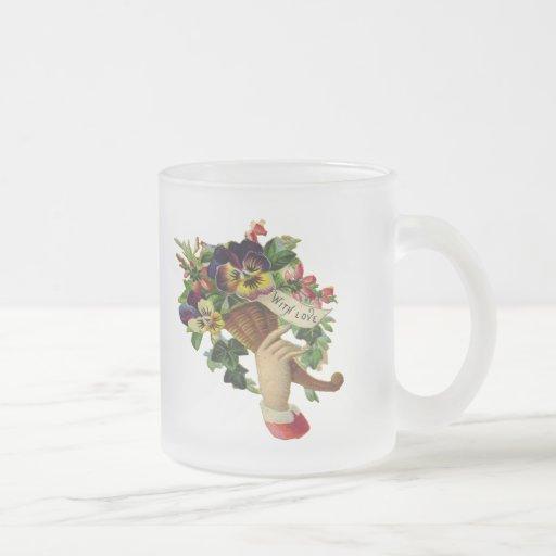 Flores del día de madre taza de café