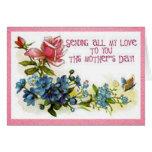 Flores del día de madres del vintage tarjeta