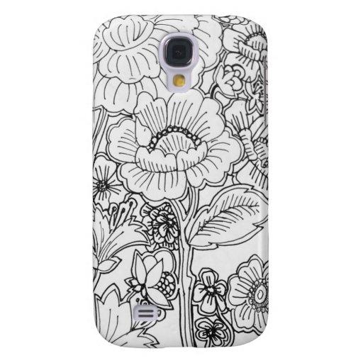 flores del doodle - vertical
