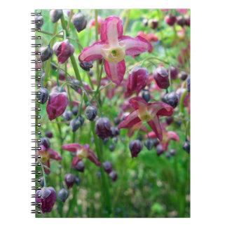 Flores del Epimedium Spiral Notebook