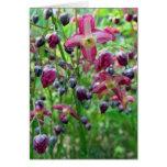 Flores del Epimedium Tarjeta