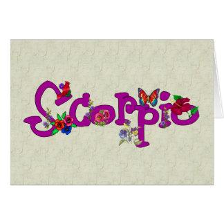 Flores del escorpión tarjeta pequeña