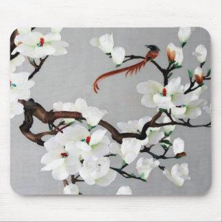 Flores del faisán y de la pera tapete de ratón