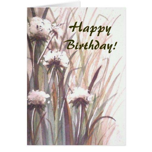 Flores del feliz cumpleaños tarjeta de felicitación