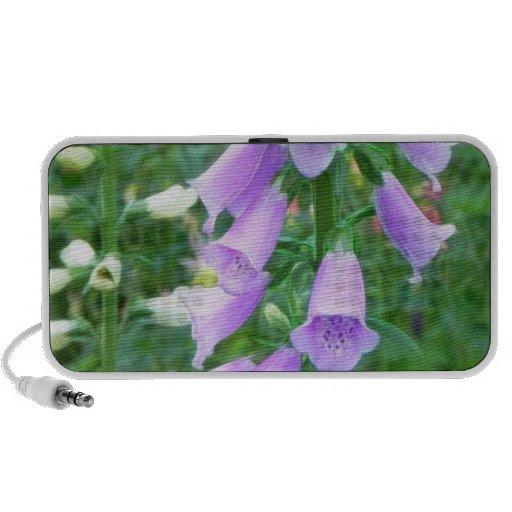 Flores del Foxglove Laptop Altavoz