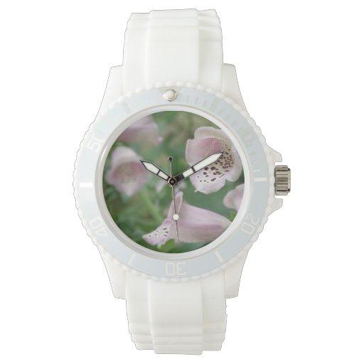 Flores del Foxglove Reloj De Mano
