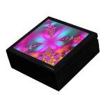 Flores del fractal caja de joyas