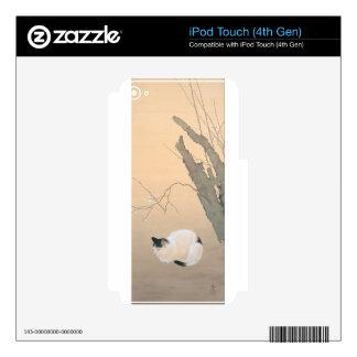 Flores del gato y del ciruelo de Hishida Shunso iPod Touch 4G Skin