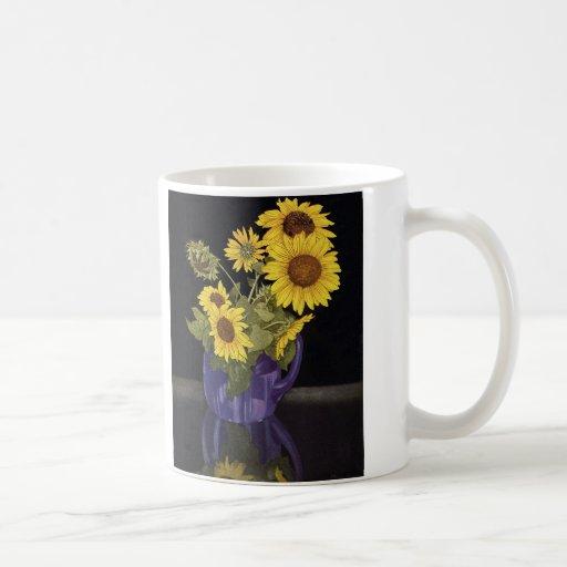 Flores del girasol del verano del jardín del taza clásica