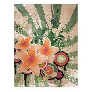 Flores del golpe tarjeta postal