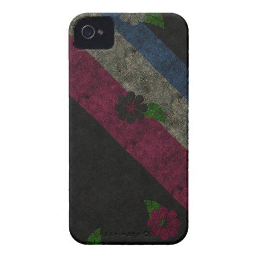 Flores del Grunge iPhone 4 Case-Mate Carcasa