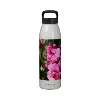flores del guisante de olor botella de agua reutilizable