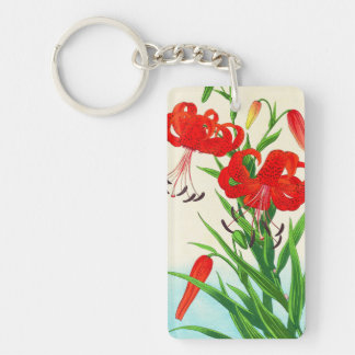 Flores del hanga de la espinilla de los lirios tig llavero