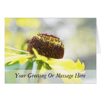 Flores del Helenium del día lluvioso Tarjeta De Felicitación