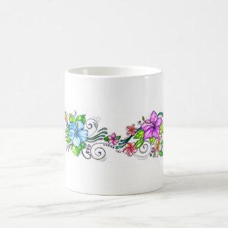 Flores del hibisco de Hawiian Taza De Café