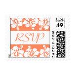 Flores del hibisco del sello de RSVP (naranja páli