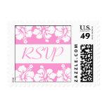 Flores del hibisco del sello de RSVP (rosa)