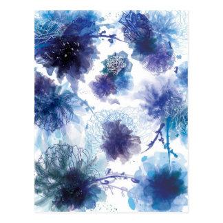 Flores del hielo tarjetas postales