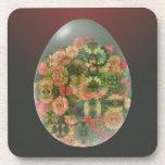 Flores del huevo posavasos de bebidas