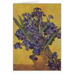 Flores del iris de Vincent Willem Van Gogh Tarjetas