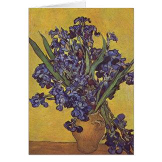 Flores del iris de Vincent Willem Van Gogh Tarjeta De Felicitación
