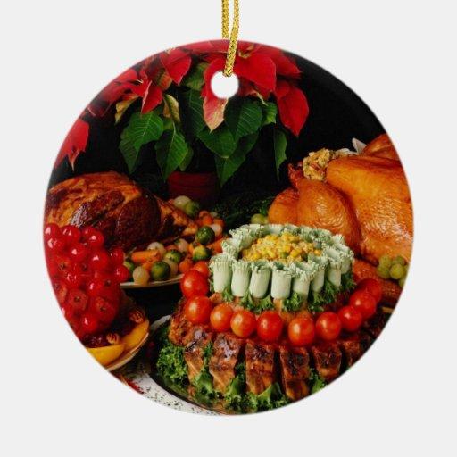 Flores del jamón, de la carne asada y del pavo adornos