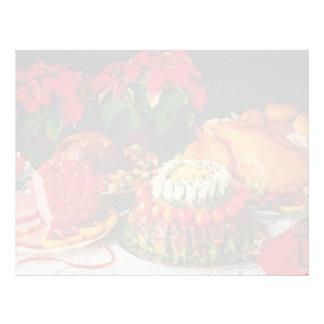 Flores del jamón, de la carne asada y del pavo membrete a diseño