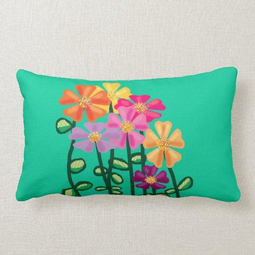 Flores del jardín almohadas