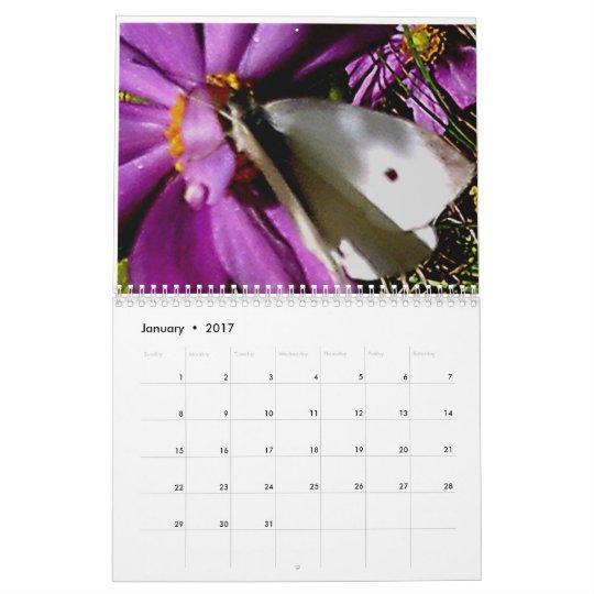 Flores del jardín calendario de pared