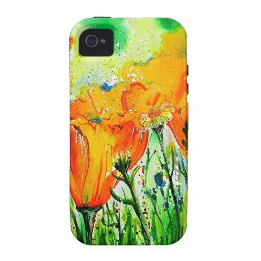 Flores del jardín Case-Mate iPhone 4 funda