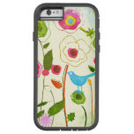 Flores del jardín de la acuarela funda de iPhone 6 tough xtreme
