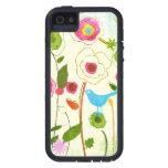 Flores del jardín de la acuarela iPhone 5 Case-Mate cobertura