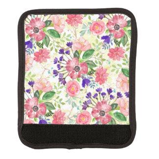 Flores del jardín de la acuarela funda para asa de maleta