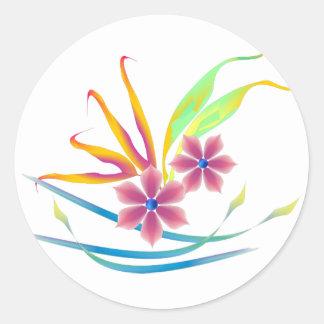 Flores del jardín de la primavera pegatinas