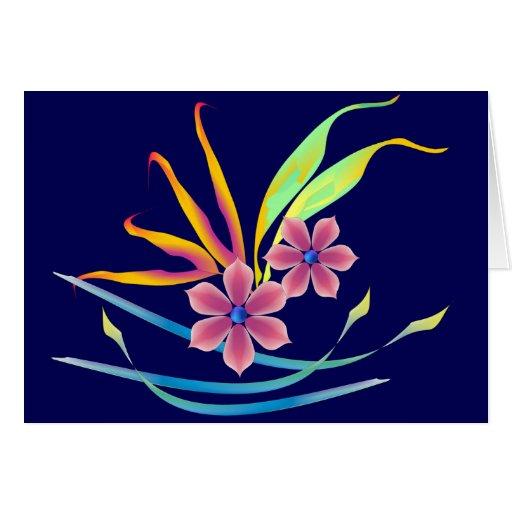 Flores del jardín de la primavera tarjeta
